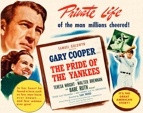 Pride Of The Yankees - 1949 - Movie Poster