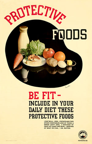 Protective Foods, Be Fit - Daily Diet - 1940's - Health Magnet