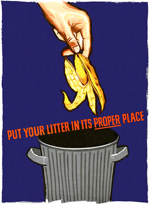 Put Your Litter In Its Proper Place - 1964 - Health Poster