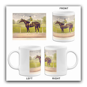 Racing King Salvator - Mile Record 1:35 - 1891 - Horse Racing Mug