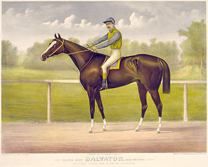 Racing King Salvator - Mile Record 1:35 - 1891 - Horse Racing Magnet
