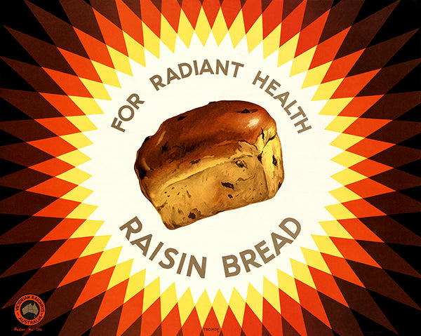 Raisin Bread - Victorian Railway Australia - 1930's - Travel Poster
