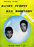 Randy Turpin vs Sugar Ray Robinson - 1951 - Polo Grounds - Fight Promotion Poster