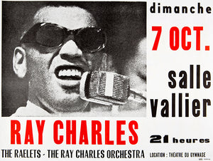 Ray Charles - 1973 - Marseille France - Concert Magnet