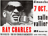 Ray Charles - 1973 - Marseille France - Concert Poster
