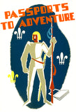 Reading Book Passports To Adventure - 1936 - WPA Poster