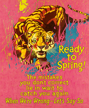 Ready To Spring - Mistakes - 1929 - Work Motivational Poster