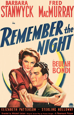 Remember The Night - 1940 - Movie Poster Magnet