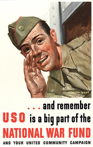 Remember USO Is A Big Part - 1940's - World War II - Propaganda Poster