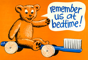 Remember Us At Bedtime - Brush Teeth - 1977 - Health Magnet