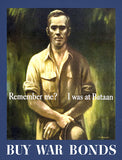 Remember Me - I Was At Bataan - 1943 - World War II - Propaganda Poster
