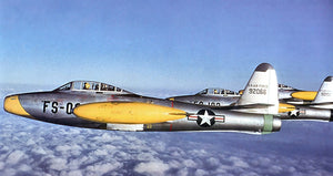 Republic F-84E Thunderjets - Photo Magnet