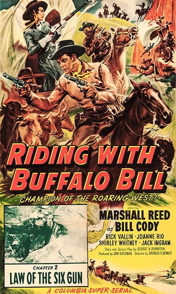 Riding With Buffalo Bill - 1954 - Movie Poster Magnet