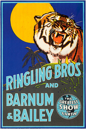 Ringling Bros & Barnum & Bailey Circus - 1942 - Promotional Advertising Poster
