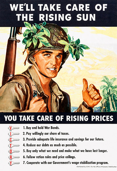 Rising Sun - Rising Prices - 1944 - World War II - Propaganda Magnet