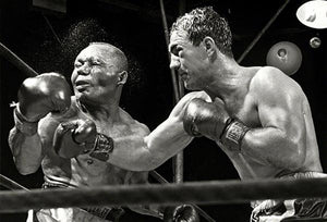 Rocky Marciano KO's Jersey Joe Walcott - 1952 - Fight Photo Magnet