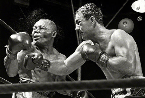 Rocky Marciano KO's Jersey Joe Walcott - 1952 - Fight Photo