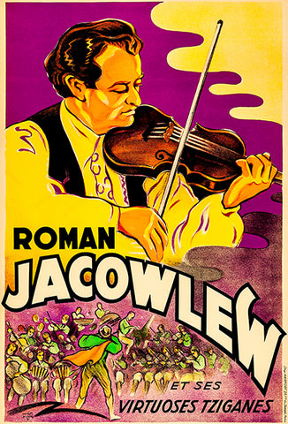 Roman Jacowlew And His Gypsy Virtuosos - 1930 - Concert Poster