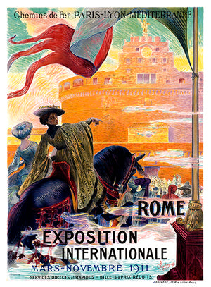 Rome Exposition Internationale - Mars - Novembre 1911 - Italy Travel Poster