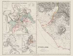 Rome In The Times Of The Emperors - Environs Of Rome - 1874 - Map Poster
