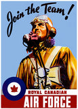 Royal Canadian Air Force - Join the Team! - Word War II - Patriotic Art Poster