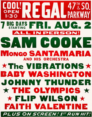 Sam Cooke - The Vibrations - 1963 - Concert Poster