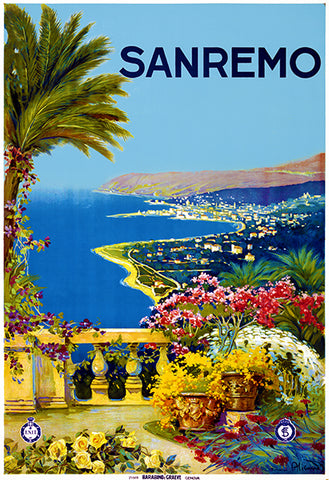 Sanremo - Italy - 1920 - Travel Poster