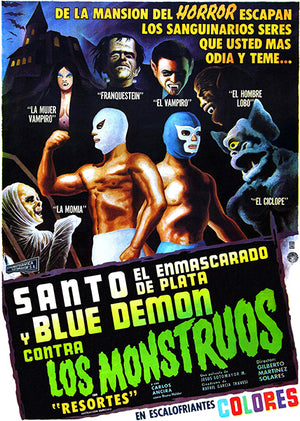 Santo And Blue Demon vs The Monsters - 1970 - Movie Poster