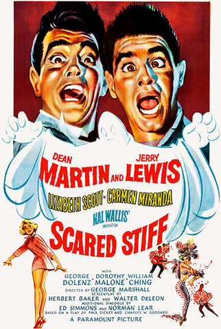 Scared Stiff - Martin & Lewis - 1953 - Movie Poster