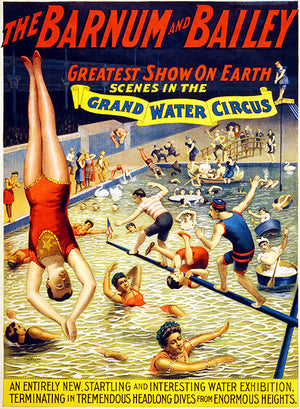 Scenes In The Grand Water - Greatest Show Barnum & Bailey - 1895 - Circus Magnet