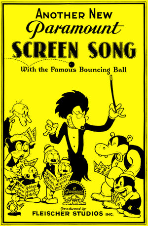 Screen Song Cartoons - 1931 - Movie Poster Magnet