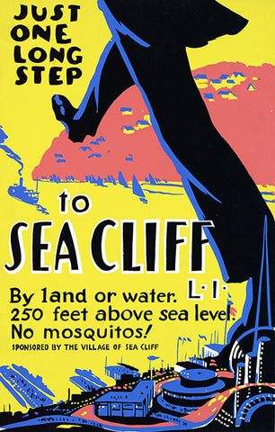 Sea Cliff - Long Island - New York - 1939 - No Mosquitos! - WPA Travel Poster