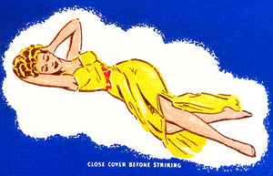 Sealy Mattress - Like Sleeping On A Cloud - 1940's - Matchbook Advertising Poster