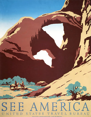 See America - Desert Rock - 1936 - Travel Poster