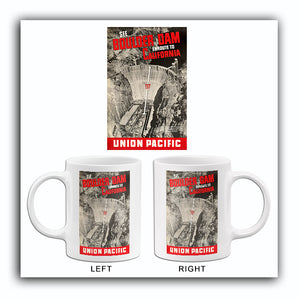 See Boulder Dam Enroute To California - 1935 - Travel Poster Mug