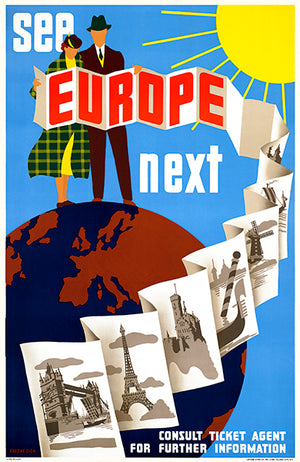 See Europe Next - 1940's - Travel Poster Mug