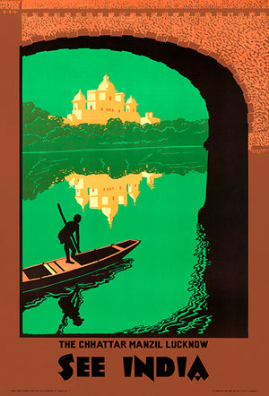 See India - The Chhattar Manzil Lucknow - 1940's - Travel Poster Mug