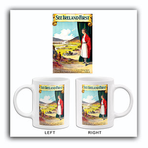 See Ireland First - 1930's - Travel Poster Mug
