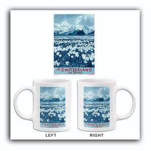 See Switzerland In Spring - 1950's - Travel Poster Mug