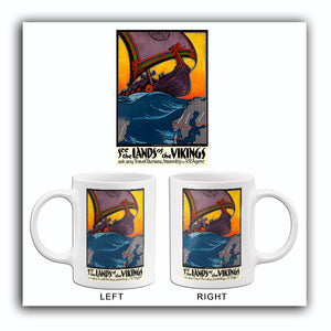 See The Lands Of The Vikings - Scandivania - 1940's - Travel Poster Mug