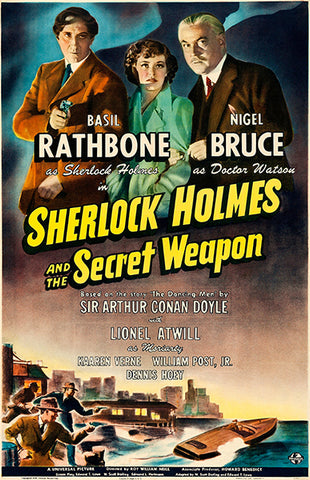 Sherlock Holmes And The Secret Weapon - 1942 - Movie Poster