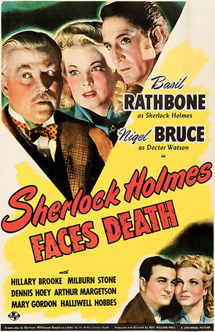 Sherlock Holmes Faces Death - 1943 - Movie Poster