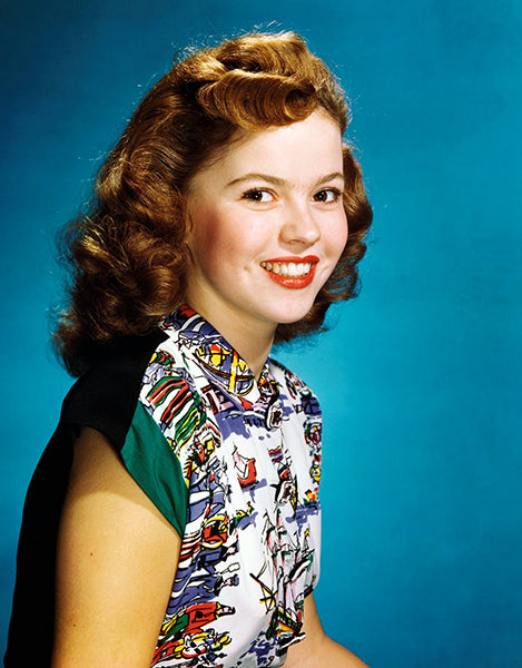 Shirley Temple - Movie Star Portrait Poster
