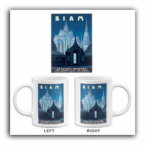 Siam Beautiful Bangkok Thailand - Jewel City Of Asia - 1950's - Travel Poster Mug