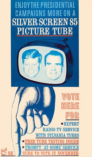 Silver Screen 85 Picture Tube - 1960 - Kennedy-Nixon Debate - Advertising Poster