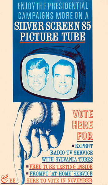 Silver Screen 85 Picture Tube - 1960 - Kennedy-Nixon Debate - Advertising Magnet