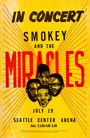 Smokey & The Miracles - 1968 - Seattle Center Arena - Concert Poster