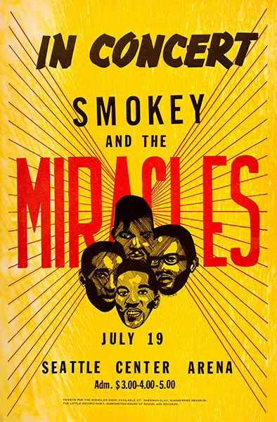 Smokey & The Miracles - 1968 - Seattle Center Arena - Concert Magnet