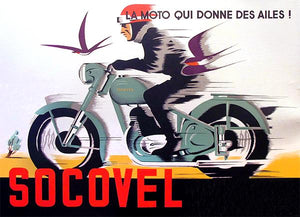 Socovel Motorcycles - 1940's - Belgium - Promotional Advertising Magnet