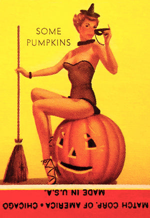 Some Pumpkins - 1940's - Matchbook Advertising Poster